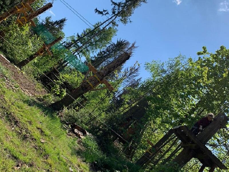 Kletterwald nur 5 Minuten entfernt