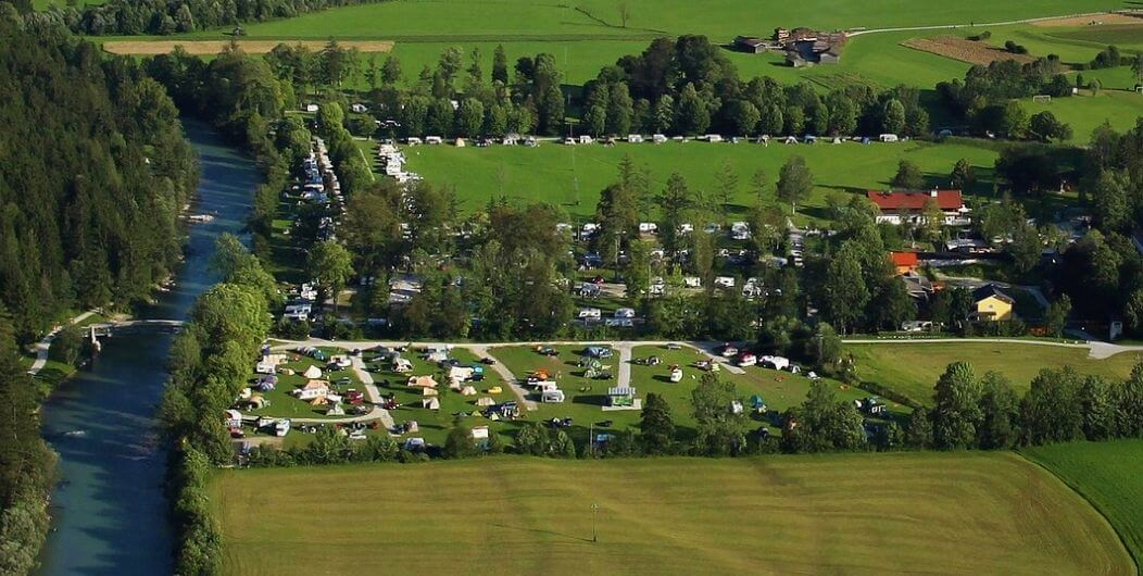 Luftaufnahme vom Campingplatz    © Grubhof Camping GmbH