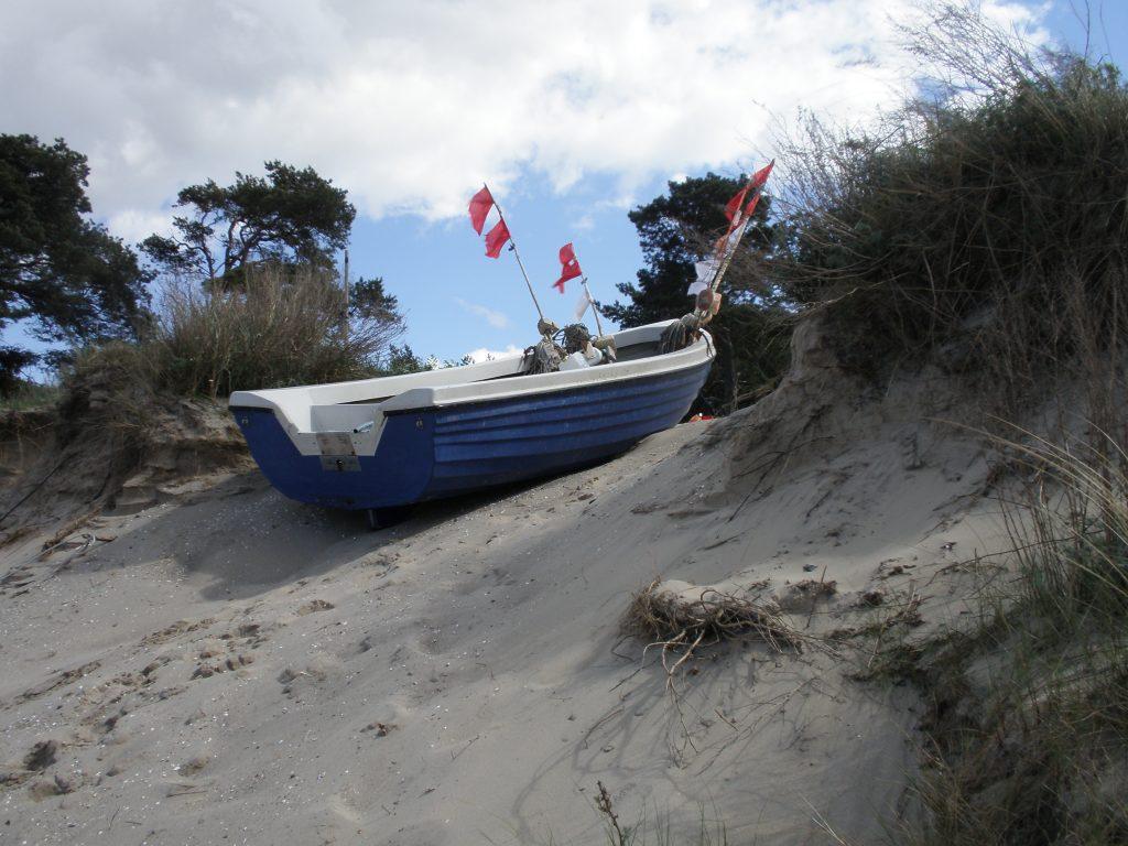 Ostsee Usedom Boot in den Dünen