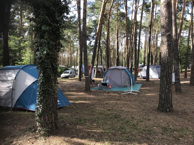 Stellplätze Campingplatz Krossinsee bei Berlin