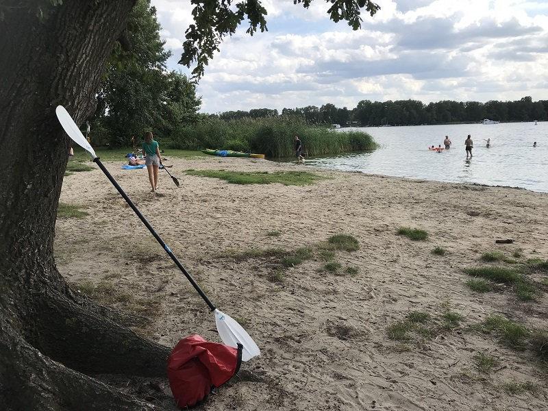 Strand beim Campingplatz Krossinsee