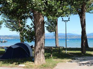 Zelten am Gardasee mit der Familie