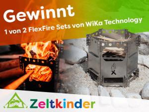 Camping-Kocher FlexFire Set - ewinnspiel mit WiKa Technology
