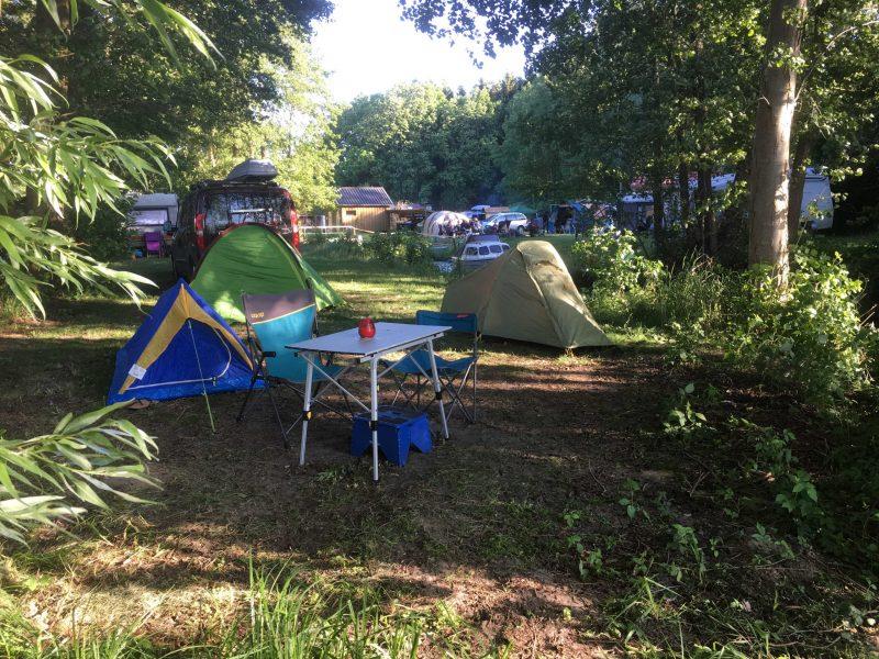 Stellplätze auf dem Campingplatz | © Naturcampingplatz Kanucamp Canow