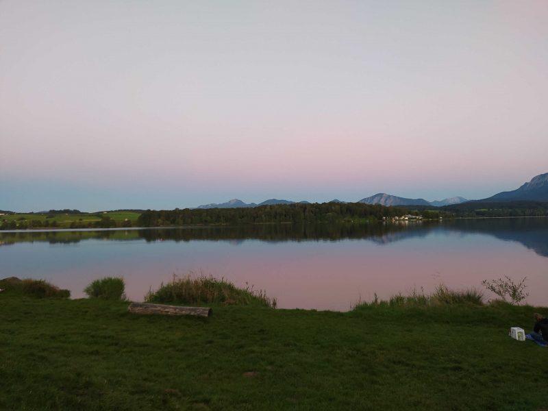 Sonnenuntergang auf dem Campingplatz Brugger  | © Sabrina Aschmoneit